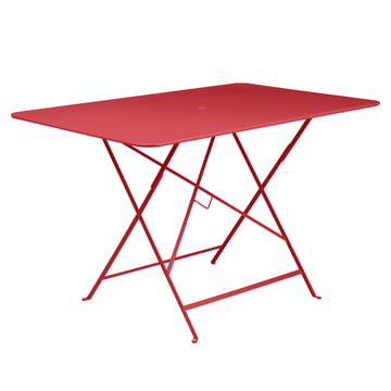 Bistro Folding Table, 117 x 77 cm by Fermob in Poppy Red