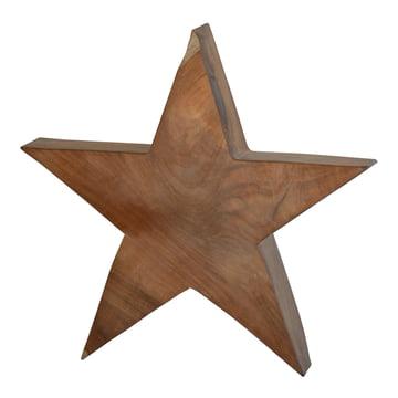 Jan Kurtz - Wooden Star L, massive teak wood