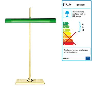 Flos - Goldman Table Lamp, solid brass, green