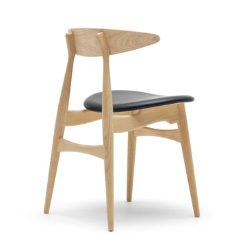 Carl Hansen - CH33, oak oiled / leather black (Loke 7150)