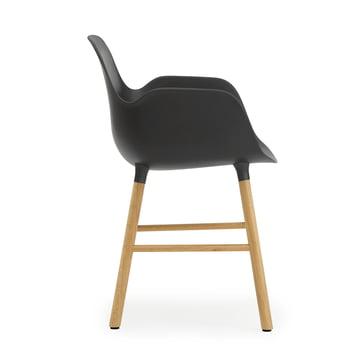 Normann Copenhagen - Form Armchair, black / oak