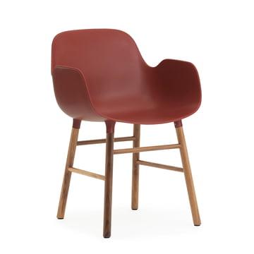 Normann Copenhagen - Form Armchair, red / walnut