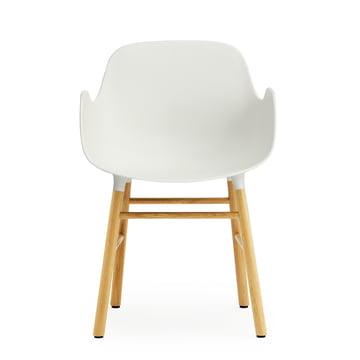 Normann Copenhagen - Form Armchair, white / oak