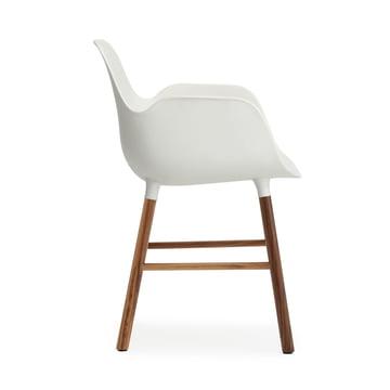Normann Copenhagen - Form Armchair, white / walnut