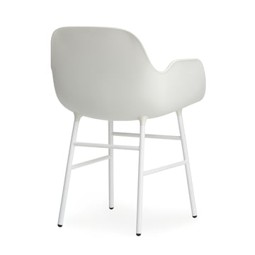 Normann Copenhagen - Form Armchair, Steel Legs, white