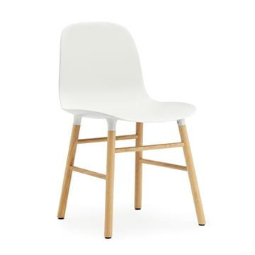 Normann Copenhagen - Form Chair, Wood Legs, oak / white