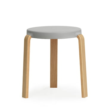 Normann Copenhagen - Tap Stool, oak / grey