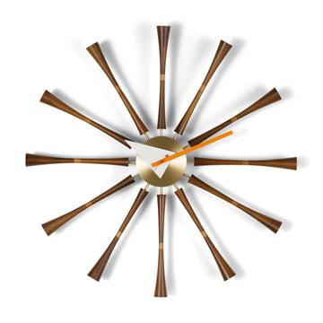 Vitra - Spindle Clock, Aluminium / Walnut