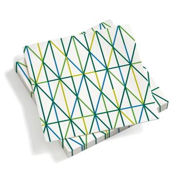 Vitra - Paper Napkins large, Grid green
