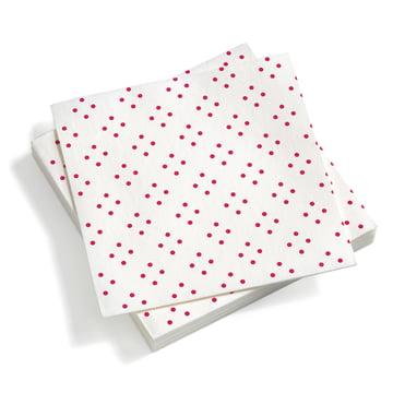 Vitra - Paper Napkins large, Quadrispot dark pink