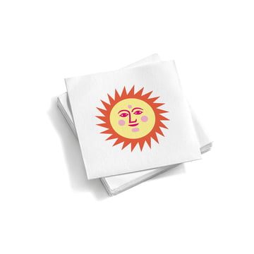 Vitra - Paper Napkins small, La Fonda Sun, light yellow orange