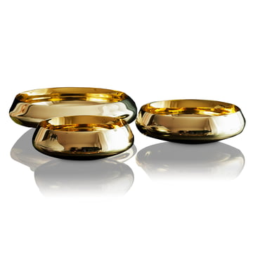 Skultuna - Ballerina Bowl brass polished, Trio different sizes