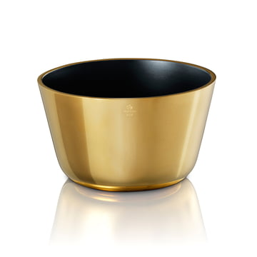 Skultuna - Bowl large, black / brass polished