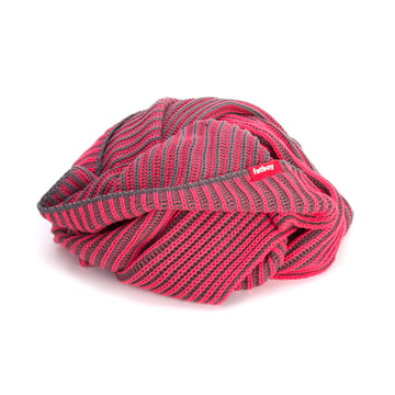 Fatboy - Klaid blanket, dark grey / neon pink