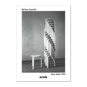 Artek - Poster Stool 60, 80th anniversary, Greige