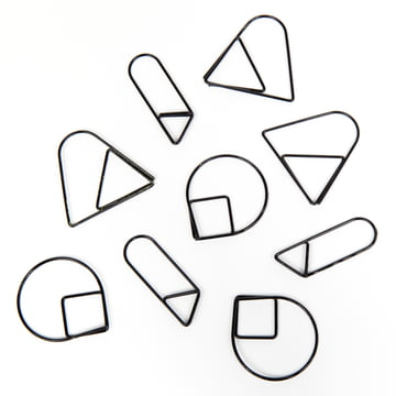 Areaware - Paper Clips, black (set of 9)