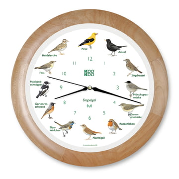 KooKoo - Singvogel Wall Clock RC, wood