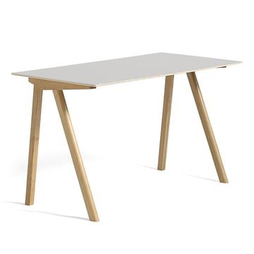 Hay - Copenhague CPH90 Desk 130 x 65 cm, soaped oak with linoleum, cream white