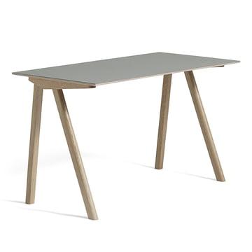 Hay - Copenhague CPH90 Desk 130 x 65 cm, soaped oak with linoleum, grey