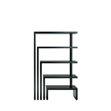 Zanotta - Joy Five Rotating Shelf Unit, black