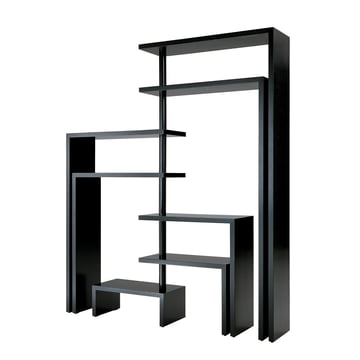 Zanotta - Joy Seven Rotating Shelf Unit, black