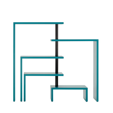 Zanotta - Joy Five Rotating Shelf Unit, turquoise