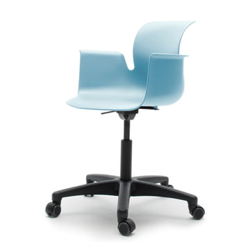 Flötotto - Pro 6 Armchair Swivel Chair, Polyamid / aqua