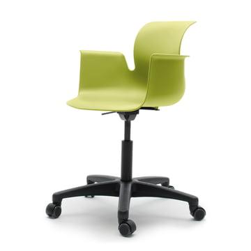Flötotto - Pro 6 Armchair Swivel Chair, Polyamid / green