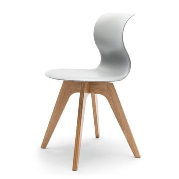 Flötotto - Pro 6 Chair, four-star wooden frame oak nature / grey, felt glides