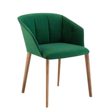 Zanotta - Liza Armchair 2271, oak / green