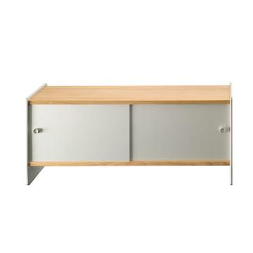 Magis - Theca Sideboard 123 cm, Aluminium / Cherry Wood