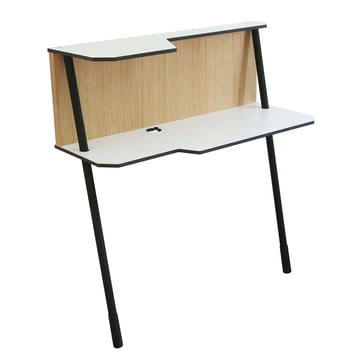 Jonas & Jonas - Walldesk 101, oak wood / white / black