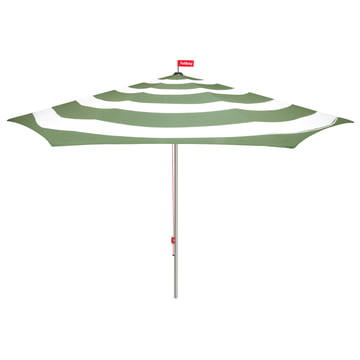 Stripesol parasol by Fatboy with base in industrial green