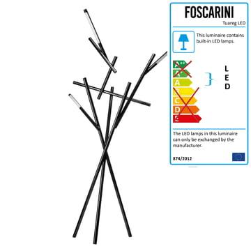 Foscarini - Tuareg Floor Lamp in black