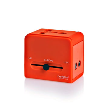 Nomess - Travel Adapter, red