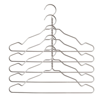 Nomess - Alu Hanger with Notch (Set of 5), alu silver