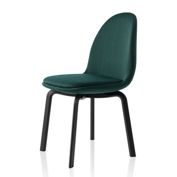 Fritz Hansen - Sammen Chair 45.5 cm, dark green