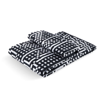 Zuzunaga - Route Black and Light Grey Bath Towel 100 × 150 cm