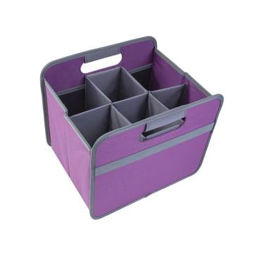 meori - Sixpack, grey / CLASSIC Foldable Box 15 Liter, midnight magenta