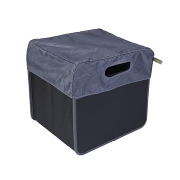 meori - Cover 15 Liter, grey / CLASSIC Foldable Box 15 Liter, Lava black solid