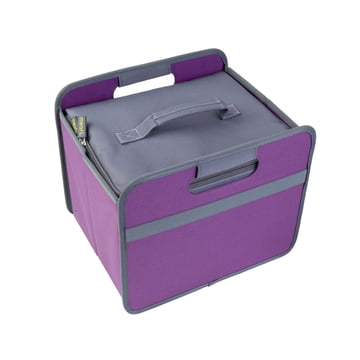 meori - Cooler, gray / CLASSIC Foldable Box 15 Liter, midnight magenta