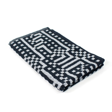 Zuzunaga - Route Black and Light Grey Guest Towel, 33 × 50 cm
