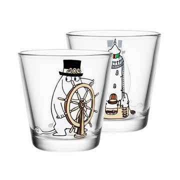 Iittala - Mumin glass 21 cl, Moominpappa at the helm
