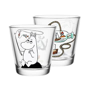 Iittala - Mumin glass 21 cl, Moomin troll fishing