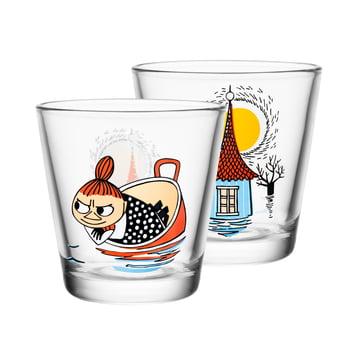 Iittala - Mumin glass 21 cl, Little My floating