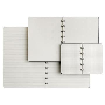 Atoma - Classic Alu Notebook, black, opened books