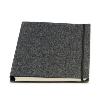 Atoma - Alain Berteau Notebook chequered A4, grey