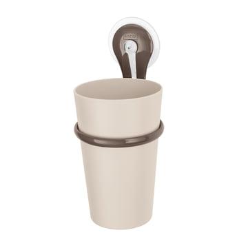 Koziol - Toothbrush Tumbler Loop, taupe mit stone