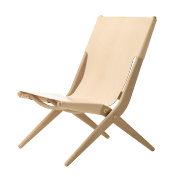 by Lassen - Saxe Folding Chair made of oak wood and natural leather