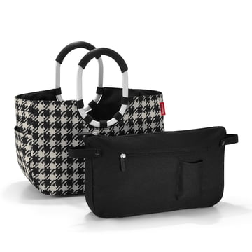 reisenthel - loopshopper M, fifties black with inside pocket